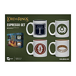 Le Seigneur des Anneaux - Pack 4 tasses Espresso Symbols