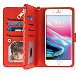 Étui iPhone 6 et 6S Plus/7 Plus/8 Plus Rouge