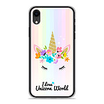 1001 Coques Coque silicone gel Apple iPhone XR motif Unicorn World