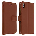 Avizar Etui folio Marron pour Huawei Y5 2019 , Honor 8S
