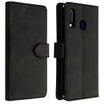 Avizar Etui folio Noir Éco-cuir pour Samsung Galaxy A20e
