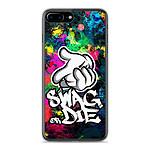 1001 Coques Coque silicone gel Apple IPhone 8 Plus motif Swag or die