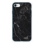 EVETANE Coque iPhone 7/8/ iPhone SE 2020 Silicone Liquide Douce bleu marine Marbre noir