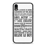 1001 Coques Coque silicone gel Apple iPhone XR motif Citation 11