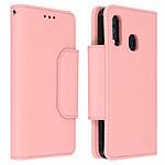 Avizar Etui folio Rose Portefeuille pour Samsung Galaxy A40