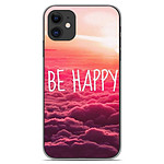 1001 Coques Coque silicone gel Apple iPhone 11 motif Be Happy nuage