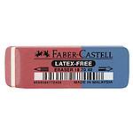 Faber-Castell Gomme en caoutchouc-combiné rouge/bleu