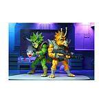 Les Tortues ninja - Pack 2 figurines Captain Zarax & Zork 18 cm