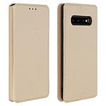 Avizar Etui folio Dorée Éco-cuir pour Samsung Galaxy S10 Plus