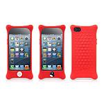 BONE  Coque en silicone BUBBLE iPhone 5  Rouge