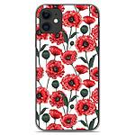 1001 Coques Coque silicone gel Apple iPhone 11 motif Fleurs de Pavot