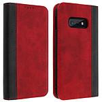Avizar Etui folio Rouge Éco-cuir pour Samsung Galaxy S10e