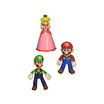 World of Nintendo - Pack 3 figurines Super Mario Mushroom Kingdom 10 cm
