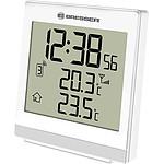 Bresser Thermomètre Intérieur Et Extérieur Avec Heure Radio Pilotée Blanc BRE_7004400-WH