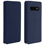 Avizar Etui folio Bleu Nuit Éco-cuir pour Samsung Galaxy S10 Plus
