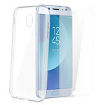 Avizar Coque Transparent avec film pour Samsung Galaxy J7 2017
