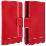 Avizar Etui folio Rouge pour Smartphones de 4.5' à 5.0'