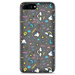 1001 Coques Coque silicone gel Apple iPhone 7 Plus motif Licorne rainbow
