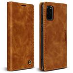 Avizar Etui folio Camel pour Samsung Galaxy S20 Plus