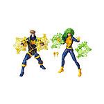 Marvel Legends 80th Anniversary - Pack 2 figurines X-Men Havok & Polaris 15 cm
