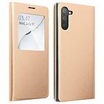 Avizar Etui folio Dorée à fenêtre pour Samsung Galaxy Note 10