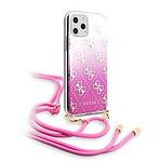 GUESS Coque pour iPhone 11 Pro 4G Gradient rose