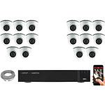 EC-VISION Kit vidéo surveillance IP 16 caméras dômes POE 5 MegaPixels