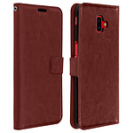 Avizar Etui folio Marron Porte-Carte pour Samsung Galaxy J6 Plus