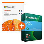 Microsoft 365 Personnel + Kaspersky Total Security - Licence 1 an - 1 utilisateur - A télécharger