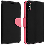 Avizar Etui folio Noir Fancy Style pour Apple iPhone XS Max