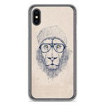 1001 Coques Coque silicone gel Apple iPhone X / XS motif BS Cool Lion