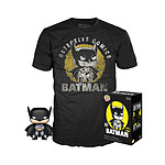 DC Comics - Set figurine et T-Shirt POP! & Tee Batman Sun Faded heo Exclusive - Taille XL