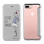 LA COQUE FRANCAISE Etui iPhone 7 Plus/ 8 Plus souple argent Classe