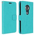 Avizar Etui folio Turquoise pour Motorola Moto G7 Play