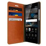 Avizar Etui folio Marron pour Huawei P8