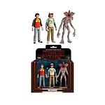 Stranger Things - Pack 3 figurines ReAction Dustin, Will &  Demogorgon 14 cm