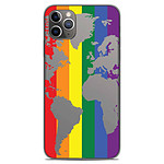 1001 Coques Coque silicone gel Apple iPhone 11 Pro Max motif Map LGBT