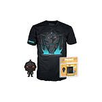 Fortnite - set figurine et T-Shirt Pocket POP! & Tee Black Knight - Taille L
