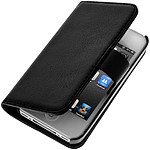 Avizar Etui folio Noir pour Apple iPhone 4 , Apple iPhone 4S