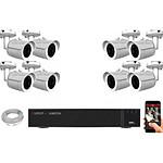 EC-VISION Kit vidéo surveillance IP 8 caméras tubes POE 5 MegaPixels