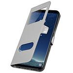 Avizar Etui folio Argent pour Samsung Galaxy S8