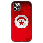 1001 Coques Coque silicone gel Apple iPhone 11 Pro motif Drapeau Tunisie