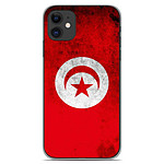 1001 Coques Coque silicone gel Apple iPhone 11 motif Drapeau Tunisie