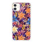 LA COQUE FRANCAISE Coque iPhone 11 360 intégrale transparente Fleurs violettes et oranges Tendance