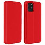 Avizar Etui folio Rouge Éco-cuir pour Apple iPhone 11 Pro
