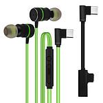 Avizar Ecouteurs Vert pour Tous les appareils dotés d'un port USB-C