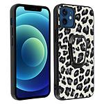 Avizar Coque Apple iPhone 12 Mini Imprimé léopard Fonction support Sur-mesure