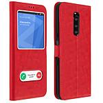 Avizar Etui folio Rouge Stand Vidéo pour Sony Xperia 1