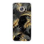 LA COQUE FRANCAISE Coque Samsung Galaxy S7 souple transparente Feuilles de Palmier Noir