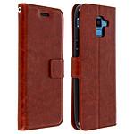 Avizar Etui folio Marron Éco-cuir pour Samsung Galaxy J6